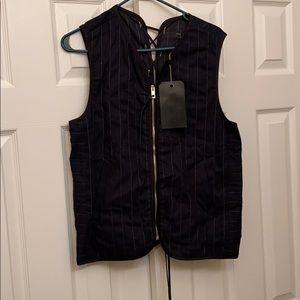 Rag and Bone Indigo Weaver Vest Sz Small